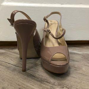 Stunning Enzo Angiolini mauve/nude heels.